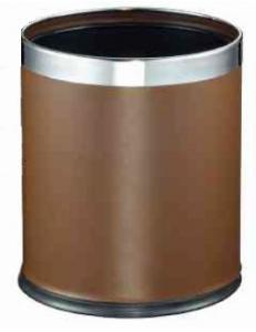 Ведро для мусора двойное коричневое