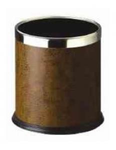 Ведро для мусора овальное коричневое