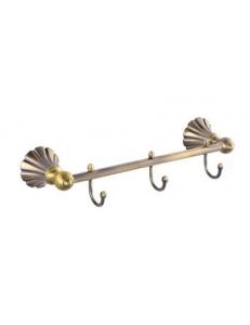 Вешалка с тремя крючками прямая под БРОНЗУ, код: 95204