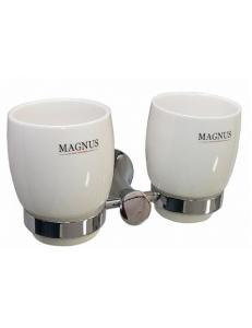 Стакан + стакан керамические с креплением к стене, код: 85160