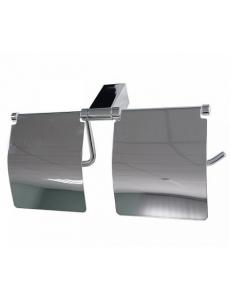 Держатель туалетной бумаги с экраном двойной, код: 77033