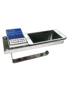 Держатель туалетной бумаги из нержавеющей стали , антивандальный , с полочкой, GF-79905