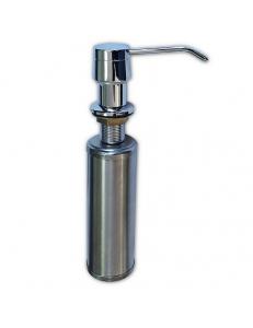 Дозатор жидкого мыла, врезной , под раковину хромированный , 250 мл, из нержавеющей стали, код: 627