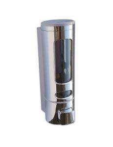 Дозатор жидкого мыла пластиковый , хромированный , круглый - 300 мл, код: 629