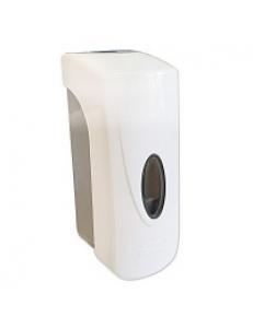 Дозатор жидкого МЫЛА , пластиковый ,БЕЛЫЙ , большой, с глазком , 350 мл, код: 630