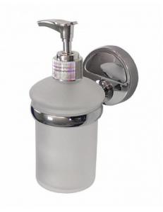 Дозатор для жидкого мыла прозрачный, настенный, код: 1227