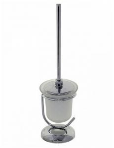 Ёрш для унитаза напольный со стеклянной колбой большой, код: 77164