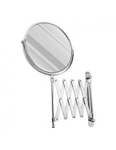Зеркало косметическое настенное раздвижное , большое, гармошка нержавейка хромированная, код: 75269-1