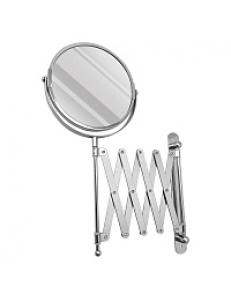 Зеркало косметическое настенное раздвижное , гармошка нержавейка хромированная, код: 75269