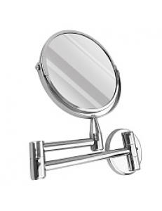 Зеркало косметическое настенное на коленце нержавейка хромированная, код: 75270