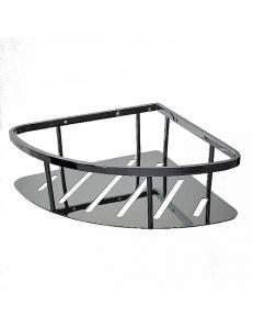 Полочка угловая овальная с литым дном одинарная 22 см, код: 77350