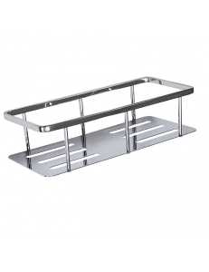 Полочка для принадлежностей - прямоугольная с литым дном из нержавеющей стали, код: 85353