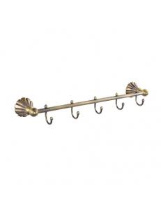 Вешалка с пятью крючками прямая под БРОНЗУ, код: 95206