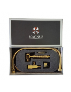 Набор бидэ : шаровый кран + лейка + шланг MAGNUS золото, код: 2053