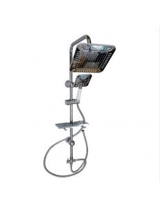 """Стойка душевая """"тропический душ"""" с двумя лейками , квадратная с полосками, код: 3060"""