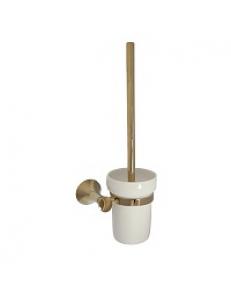 Ёрш для унитаза , керамическая колба с креплением к стене под СВЕТЛОЕ ЗОЛОТО