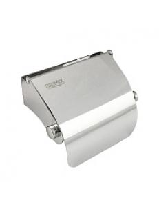 Держатель  туалетной бумаги с экраном 120х100х60 мм из нержавеющей стали 304 , хром 79907