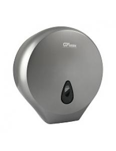 Диспенсер для туалетной бумаги - барабан ПРЕМИУМ  , пластиковый, СЕРЫЙ с глазком - капля, с ключом  Д271хГ130хВ281  926