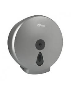 Диспенсер для туалетной бумаги - барабан , пластиковый, СЕРЫЙ с глазком - капля с ключом  Д273хГ122хВ285  927