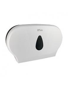 Диспенсер для туалетной бумаги - барабан на 2 РУЛОНА , пластиковый, БЕЛЫЙ  с глазком - капля , с ключом 928