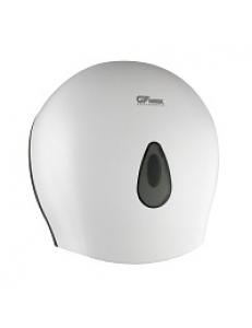 Диспенсер для туалетной бумаги - барабан , пластиковый, БЕЛЫЙ  с глазком - капля , с ключом 930