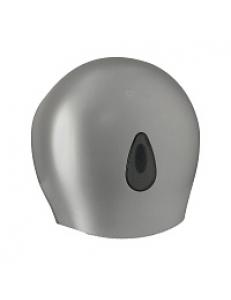 Диспенсер для туалетной бумаги - барабан , пластиковый, СЕРЫЙ  с глазком - капля , с ключом 931