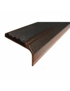 Алюминиевый угол-порог с 1-ой противоскользящей вставкой Без тех. отверстий под крепеж. Длина 2 пог.м.
