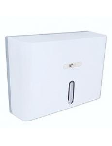 Диспенсер для бумажного полотенца с ключом БЕЛЫЙ с ГЛАЗКОМ , пластиковый - прямой Под Z салфетки., код: 919