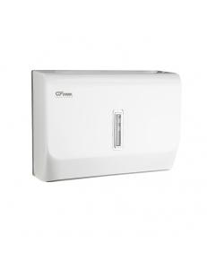 Диспенсер для бумажного полотенца с ключом БЕЛЫЙ с ГЛАЗКОМ , пластиковый - прямой Под Z и V салфетки., код: 921