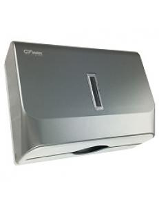 Диспенсер для бумажных полотенец матовый хром, пластик Под Z и V полотенца, код: 924