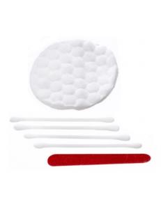 Косметический набор в п.п. (4 ватных палочки, 2 ватных диска, пилка)