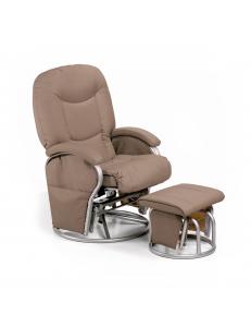 Кресло  Hauck Metal Glider creme для кормящей мамы
