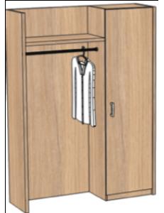 Шкаф открытый 1400х420х2000мм (ШхГхВ)