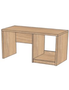 Стол с нишей под минибар1200х520х750мм (ШхГхВ),размер ниши под минибар 564х475х638мм / возможность установки защитного поддона от протекания конденсата холодиольника