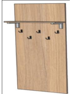 Вешалка с полкой 800х216х1550мм (ШхГхВ), размеры полки 800х200х16мм
