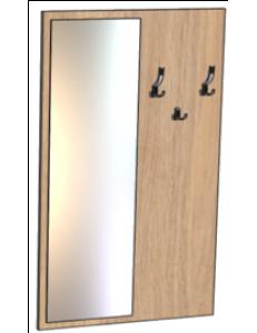 Вешалка с зеркалом 800х20х1550мм (ШхГхВ)