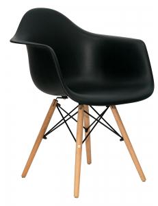 Кресло EAMES W черное. Сидение.+Кресло EAMES W. Каркас деревянный