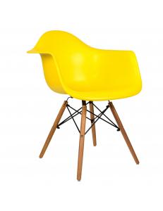 Кресло EAMES W желтое. Сидение.+Кресло EAMES W. Каркас деревянный