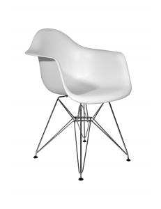 Кресло EAMES белое. Сидение.+Кресло EAMES.Каркас металлический