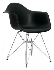 Кресло EAMES черное. Сидение.+Кресло EAMES.Каркас металлический