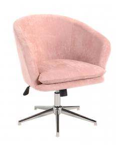 КреслоХарисрегулируемое,замша,пыльно-розовый