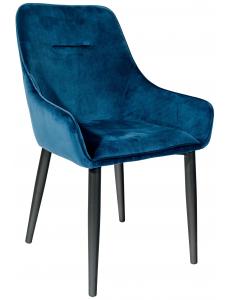 Стул Диана, вельвет сине-зеленый+Стул Диана, ножки металл, черный матовый