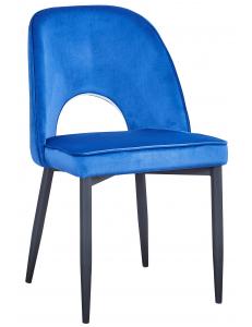 Стул Молли, вельвет королевский синий. Сидение+Стул Молли, ножки металл, черный матовый
