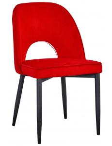 Стул Молли, вельвет красный. Сидение+Стул Молли, ножки металл, черный матовый