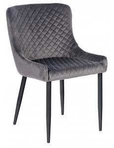 Кресло Ститч, вельвет серый