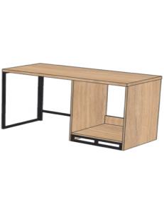 Стол с нишей под минибар 1200х500х750мм (ШхГхВ), размер ниши под минибар 464х475х638мм / возможность установки защитного поддона от протекания конденсата холодильника