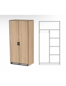 Шкаф двухдверный 800х520х2000мм (ШхГхВ)