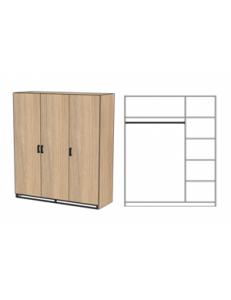 Шкаф трехдверный 1500х520х2000мм (ШхГхВ)