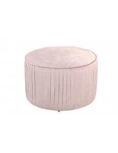 ПуфМирабольшой,вельвет,пыльно-розовый