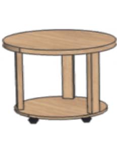 Стол журнальный круглый на колесах D=500мм, Н= 520мм